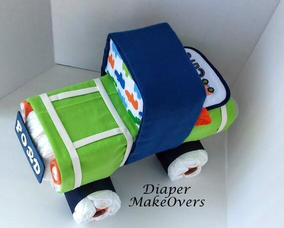 Baby Shower Garcon Idées ~ Baby boy diaper cake truck unique cakes