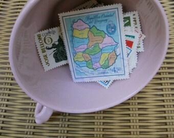 Vintage Uruguayan stamps. Old postage stamps. Uruguay. Paper ephemera. Scrapbook. Crafting. Collage. Lot of stamps. Vintage paper supplies.
