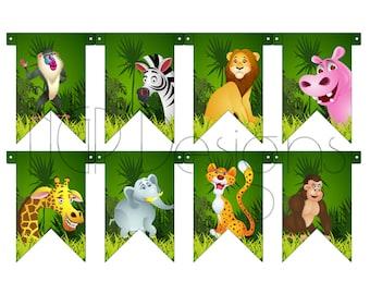 Safari Pennant Banner 1