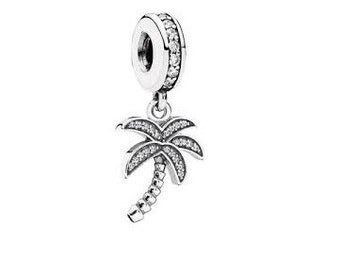 Sterling Silver Sparkling Palm Tree