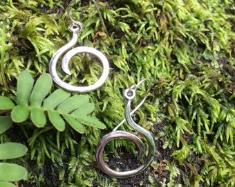 Freeform earrings  in silver