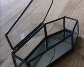 glass coffin, gothic decor, gothic wedding, Halloween decor, coffin box, glass casket, repurposed glass mirror box