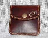 Handmade   100 Leather Coin Purse  Gifts for Him  Gifts for Her  Wallet  Personalisable  Custom