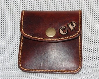 Handmade -  100% Leather Coin Purse - Gifts for Him - Gifts for Her - Wallet - Personalisable - Custom