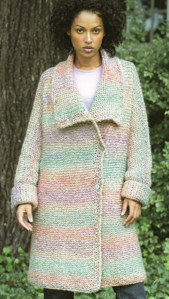 Duster Jacket Knitting Pattern : Long Duster Sweater Coat Knitting Pattern Long Cardigan