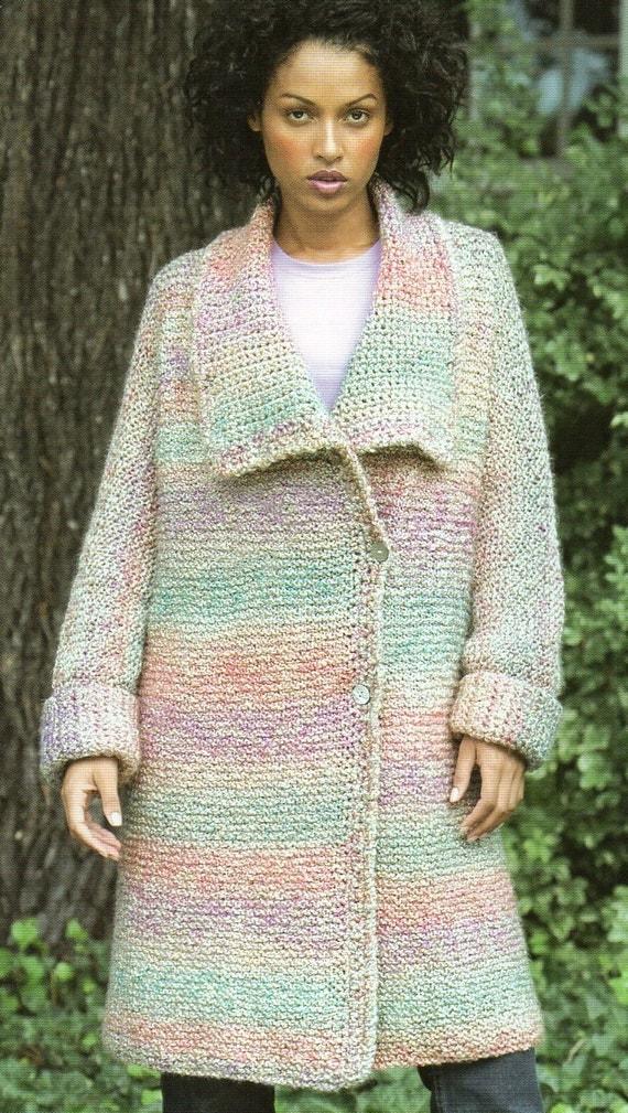 Long Duster Sweater Coat Knitting Pattern Long Cardigan
