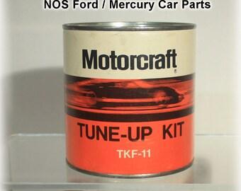 Motorcraft, Tune Up Kit, NOS, New Old Stock, Vintage Car Parts, 1970 car part, TKF 11, Mustang, Cougar, Fairlane, Torino, Ford, Mercury
