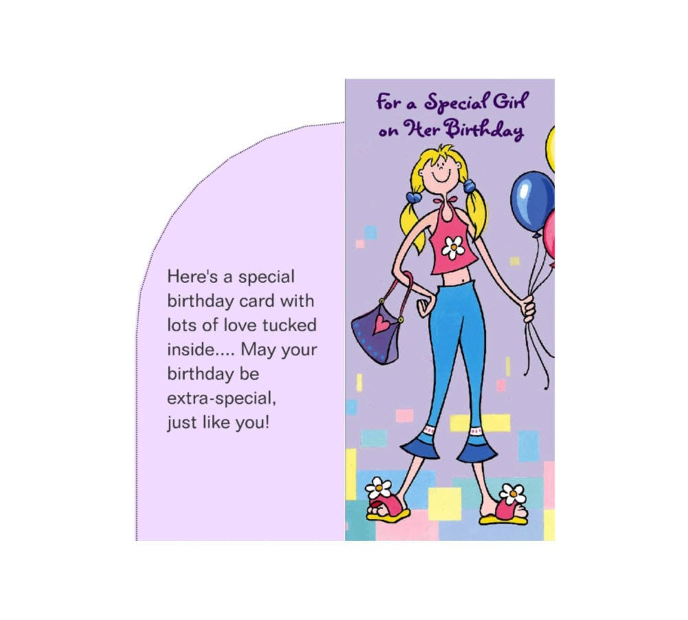 Birthday Money Card Special Girl Plus Envelope Printable