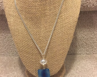 Blue ( long) pedant necklace