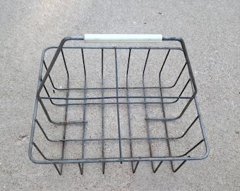 1960's Steel Milk Crate / Carrier
