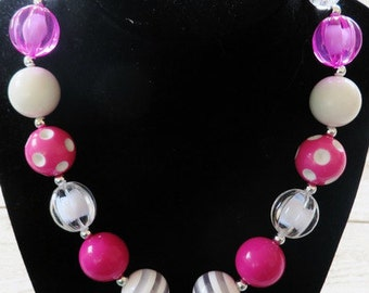 Pretty in Pink Bubble Gum Necklace