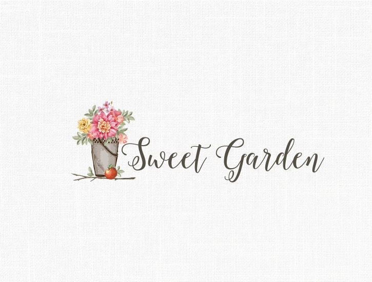Custom photography logo home decor logo garden logo vintage for Home interiors logo