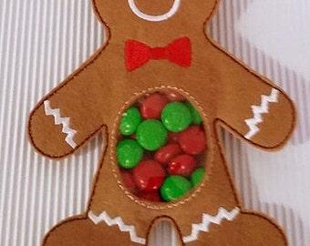 ITH Ginger Bread Man Treat Holder - (5x7)