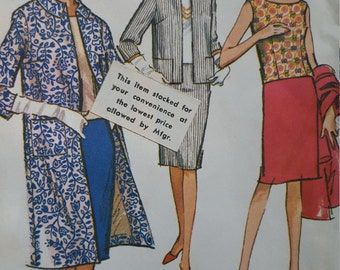Vintage McCall's misses sheath dress and coat pattern