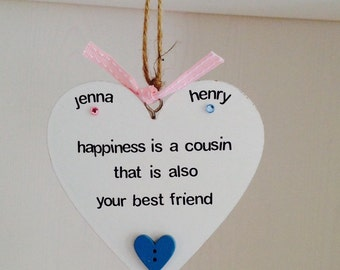 Personalised Cousin Quote Plaques - Personalised Cousin Plaques - Personalised Cousin Gifts