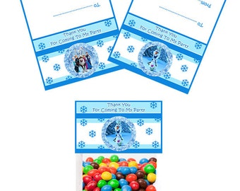 Frozen 6 Inch  Party Favor Topper- Digital Download - Candy Bag Topper - Frozen Party