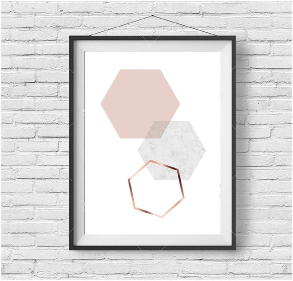 Blush Print Blush Wall Art Blush Poster Copper Print