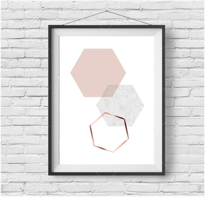 Copper Wall Decor blush print blush wall art blush poster copper print