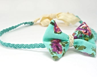 Floral braid headband