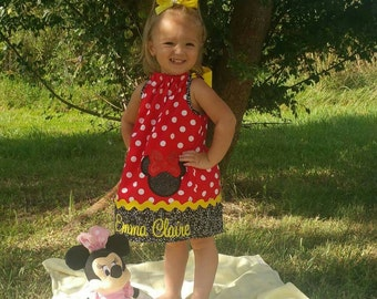 custom personalized minnie mouse pillowcase dress