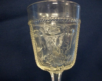 Actress Goblet Early American Pattern Glass, 1800's
