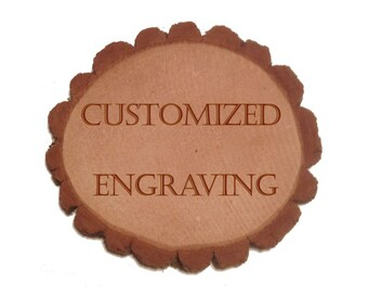 Custom Laser Engraved Personalized Wood Gifts - Create Your Own Message