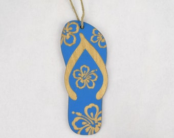 Flip Flop Christmas Ornament (choose from blue, red, purple & green)
