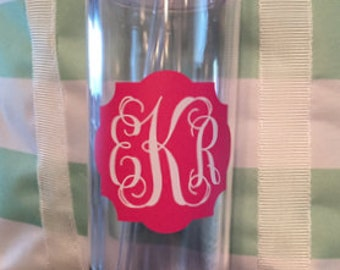 16 Oz Double Wall Tumbler with Monogram