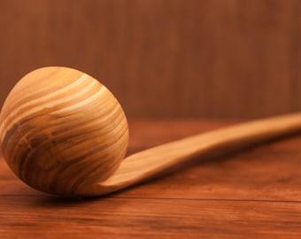"""Sale! Wooden ladle, 13.7""""- Wooden deep spoon, Handmade wooden scoop, Rustic kitchen, kitchen utensil, Wooden cooking spoons, Kitchen Tools"""