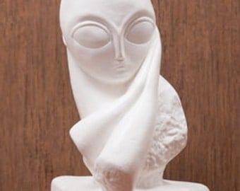 Madame Pogany Statue, Decorative Statue, Decorative Figurine, Brancusi Replica, Plaster Figurine, Plaster Statue, Art figurine, Home Decor