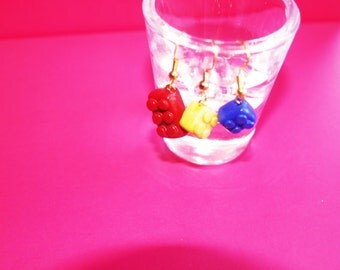 Lego Piece Fimo/Polymer Clay Earrings