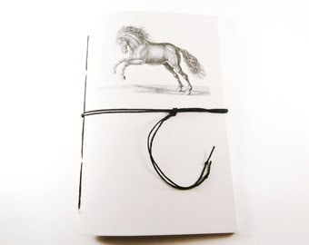 Horse Journal, Ruled Notebook, Graph Paper Journal, Horse Notebook, Dot Grid Writing Journal, Lined Notebook, Personalized Journal, Cahier