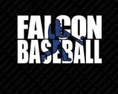 Falcon Baseball T-Shirt - Custom Team School Spirit Shirt - You Choose Your School Colors