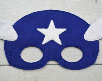 American Hero Children's Felt Mask  - Costume - Theater - Dress Up - Halloween - Face Mask - Pretend Play - Party Favor