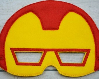 Iron Hero Children's Felt Mask  - Costume - Theater - Dress Up - Halloween - Face Mask - Pretend Play - Party Favor