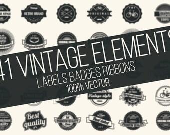 Vintage Pack - 141 Vintage Elements