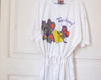 Vintage 80s Take it easy Dress