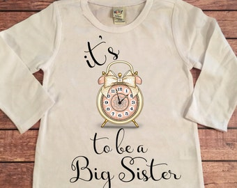 Middle sister big sister shirt little by oliveroliviaapparel for Big sister birth announcement shirts