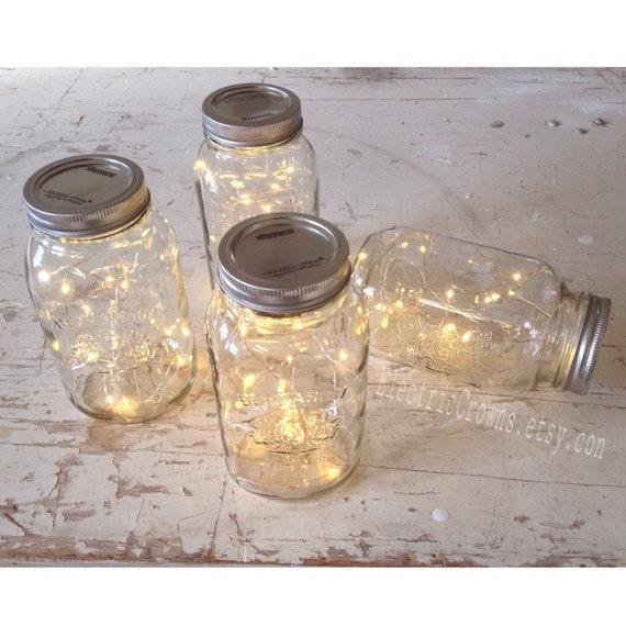 Bundle Of Fairy Lights Mason Jar Firefly Rustic Wedding Winter Decoration Decor