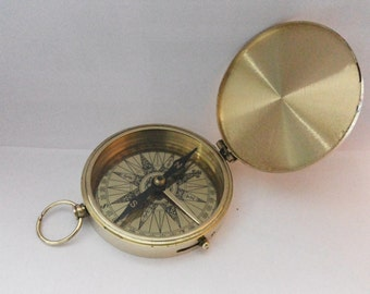 Nautical Brass Pocket Compass 3 Inches Marine Compass Collectible