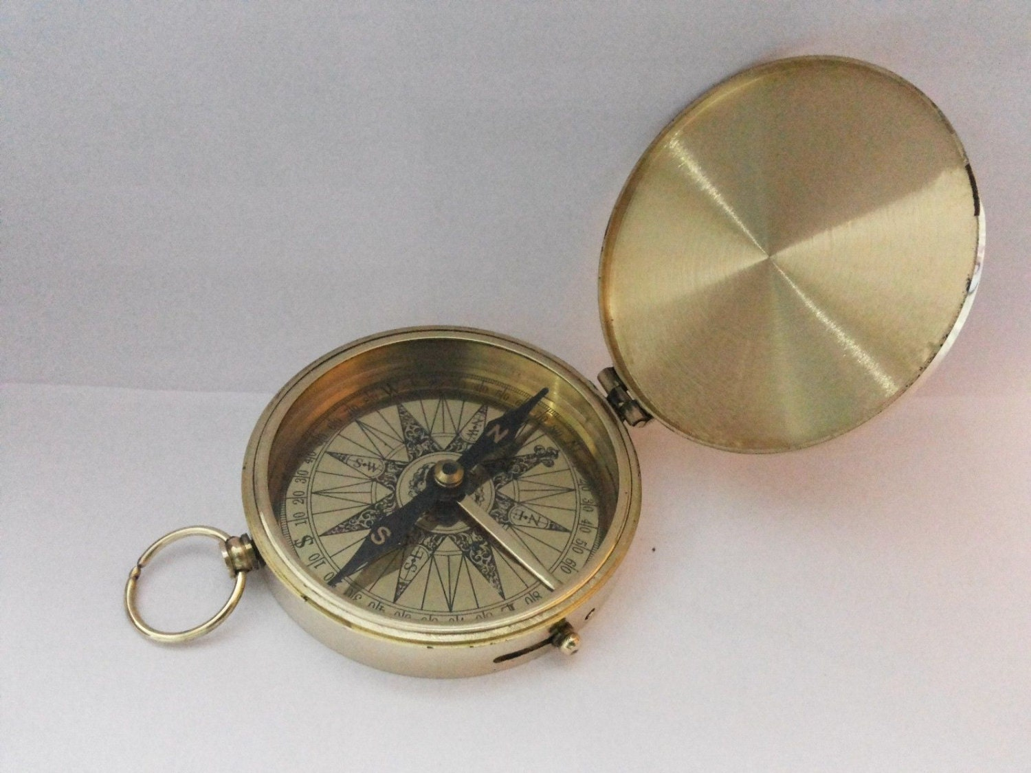 Nautical Brass Pocket Compass 3 Inches by antiquenauticalmart