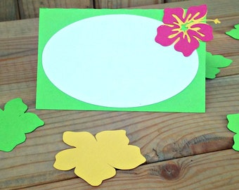 Luau Food Tents/Placecards - Hawaiian - party supplies - table decor