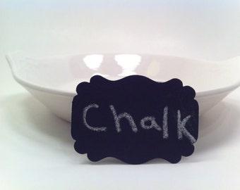 Escort Chalkboard Tags - 25 - weddings - party supplies - reusable - chalkboard