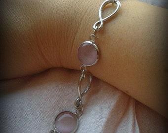 Pink stones bracelet
