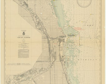 Chicago Harbor Map 1933
