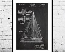 Sailboat Print, Sailboat Poster, Sailboat Art, Sailboat Patent, Sailboat Wall Decor, Sailboat Wall Art, Sailboat Blueprint, Sailboat