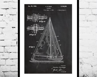 Sailboat Print, Sailboat Poster, Sailboat Art, Sailboat Patent, Sailboat Wall Decor, Sailboat Wall Art, Sailboat Blueprint, Sailboat
