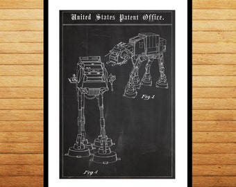 AT-AT Imperial Walker Poster, Star wars, at-at, Star wars poster, Star wars art