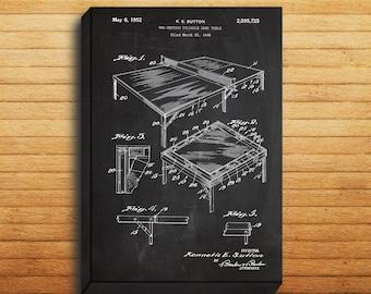CANVAS - Ping Pong Table Art, Ping Pong Table Print, Ping Pong Table Patent, Ping Pong Table Poster, Ping Pong Table Decor,