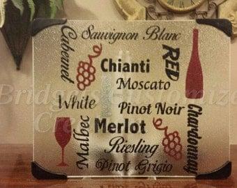 Wine Subway Cutting Board